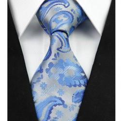 Hodvábna kravata strieborná NT0296