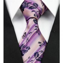 Hodvábna kravata fialová NT0287