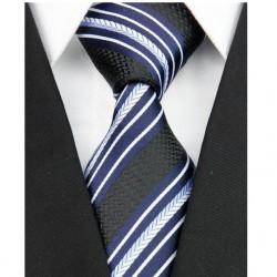 Hodvábna kravata čierná NT0109