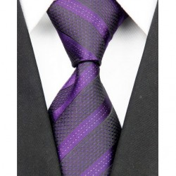 Hodvábna kravata fialová NT0099