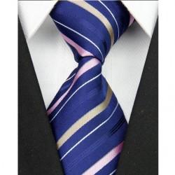 Hodvábna kravata modrá NT0090