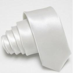 Úzka SLIM kravata biela
