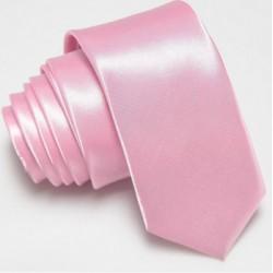 Úzka SLIM kravata ružová