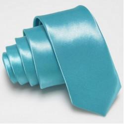 Úzka SLIM kravata svetlo modrá tyrkysová