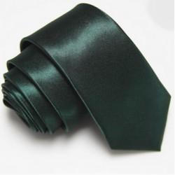 Úzka SLIM kravata tmavo zelená