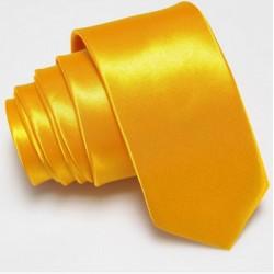 Úzka SLIM kravata žltá