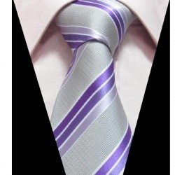 Hedvábná kravata šedá LD0391