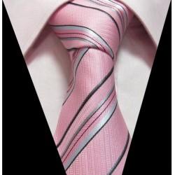 Hodvábna kravata ružová LD0393