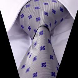 Hodvábna kravata sivá LD0421