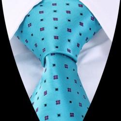 Hodvábna kravata modrá LD0422