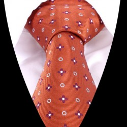 Hodvábna kravata oranžová LD0480