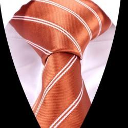 Hodvábna kravata oranžová LD0524