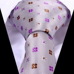 Hodvábna kravata sivá LD0532