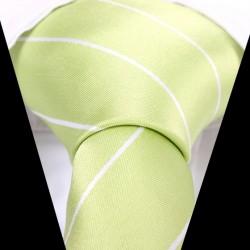 Hodvábna kravata zelená LD0538