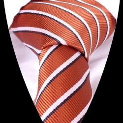 Hodvábna kravata oranžová LD0555