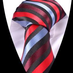 Hodvábna kravata červená LD0557