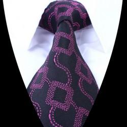 Hodvábna kravata čierna LD0678