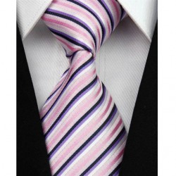 Hodvábna kravata ružová NT0071