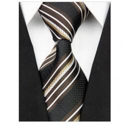 Hodvábna kravata čierna NT0075