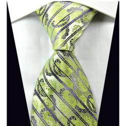 Hodvábna kravata zelená NT0334