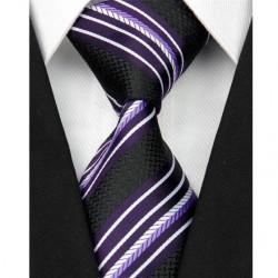 Hodvábna kravata čierna NT0088