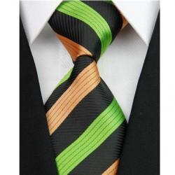 Hodvábna kravata čierna NT0155