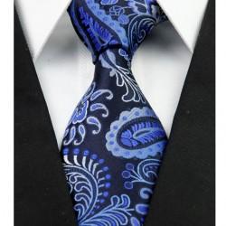 Hedvábná kravata kašmírová modrá NT0258