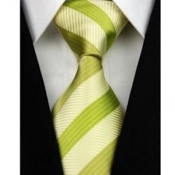 Hodvábna kravata zelená NT0156