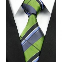 Hodvábna kravata zelená NT0232
