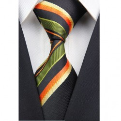 Hodvábna kravata zelená NT0028