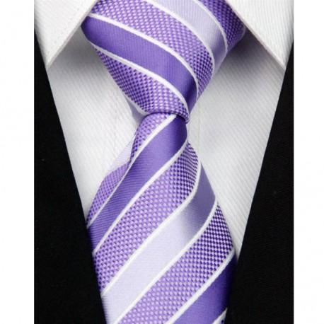 Hedvábná kravata fialová NT0008
