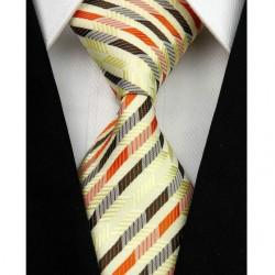 Hedvábná kravata žlutá NT0083