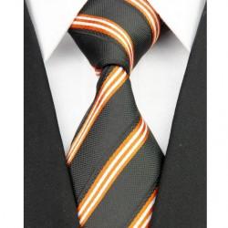 Hodvábna kravata čierna NT0117