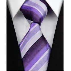 Hedvábná kravata fialová NT0123