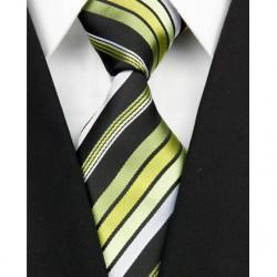 Hodvábna kravata zelená NT0137