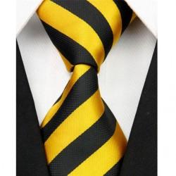 Hedvábná kravata žlutá NT0086