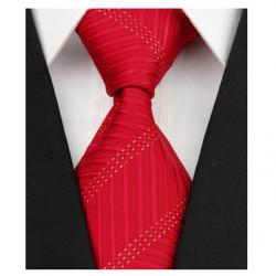 Hedvábná kravata červená NT0082