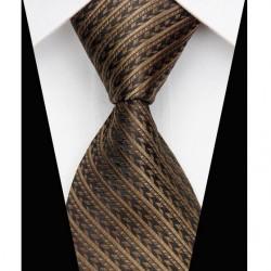 Hedvábná kravata hnědá NT0515