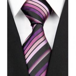 Hodvábna kravata fialova NT0181