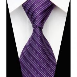 Hodvábna kravata fialova NT0542
