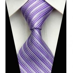 Hodvábna kravata fialova NT0518