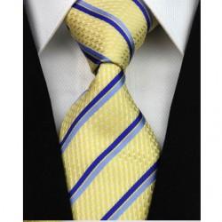 Hedvábná kravata žlutá NT0183