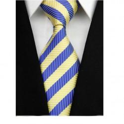 Hedvábná kravata žlutá NT0105