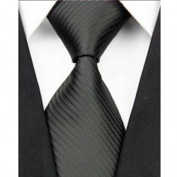Hodvábna kravata čierna NT0031
