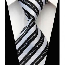 Hodvábna kravata čierna NT0579