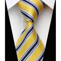 Hedvábná kravata žlutá NT0567