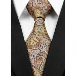 Hodvábna kravata hnedá NT0283