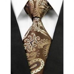 Hodvábna kravata hnedá NT0286