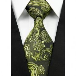 Hodvábna kravata zelená NT0214