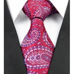 Hodvábna kravata červená NT0222